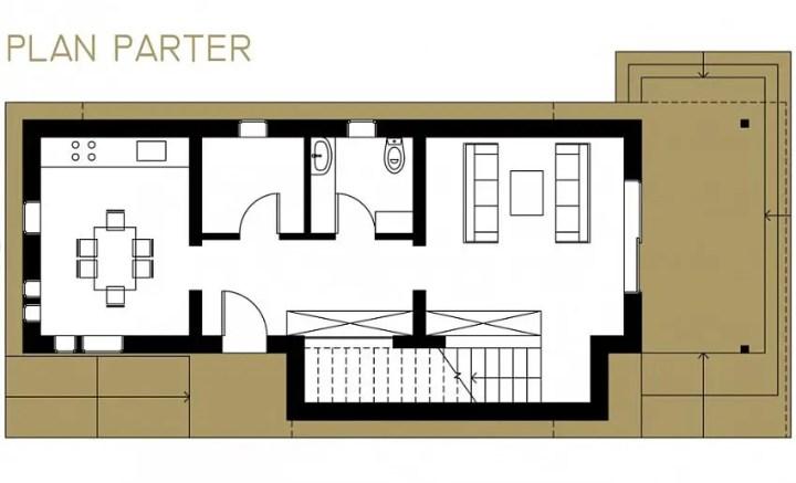 case ieftine cu etaj Cheap flat roof house plans 2