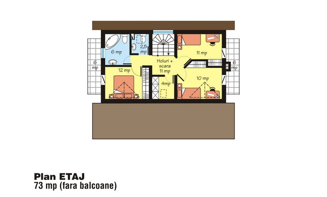 case mici cu trei dormitoare Small three bedroom house plans 9