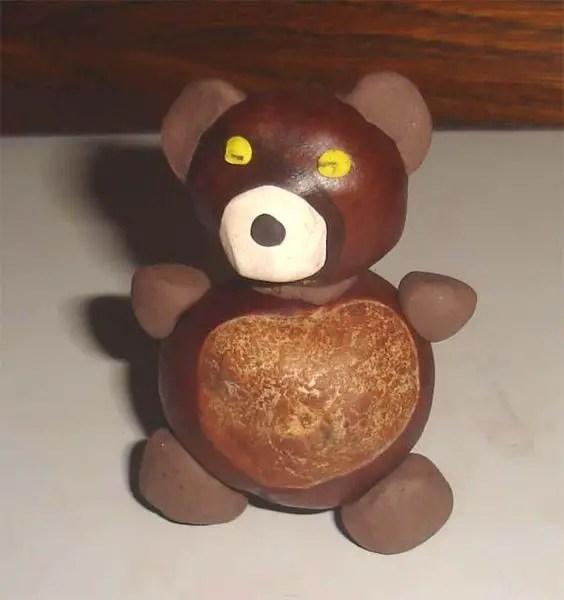 decoratiuni din ghinde si castane Acord and chestnut crafts 1