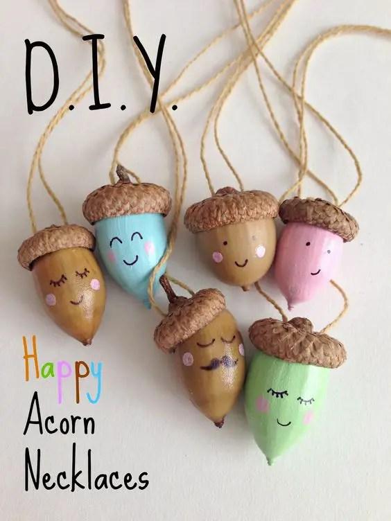 decoratiuni din ghinde si castane Acord and chestnut crafts 15