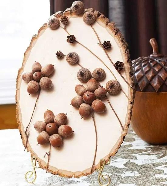 decoratiuni din ghinde si castane Acord and chestnut crafts 16