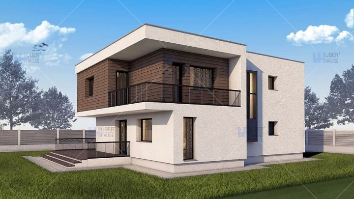 proiecte de case moderne cu etaj Modern two story house plans 10