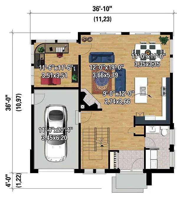 casa cubica 3 plan parter