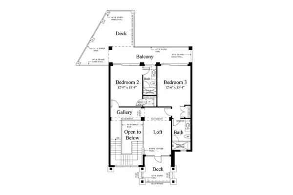 case de vis cu trei dormitoare 1 plan etaj