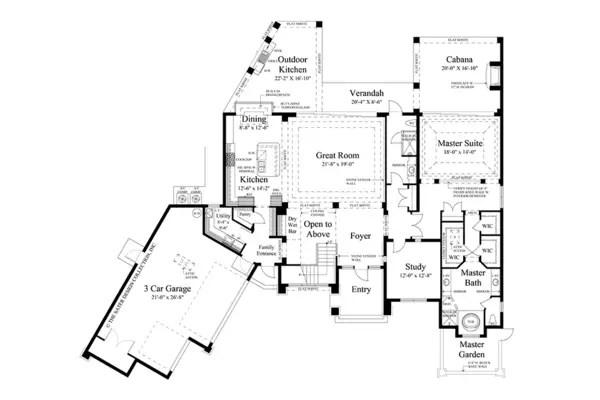 case de vis cu trei dormitoare 1 plan