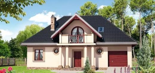 proiecte de case rustice cu mansarda si garaj