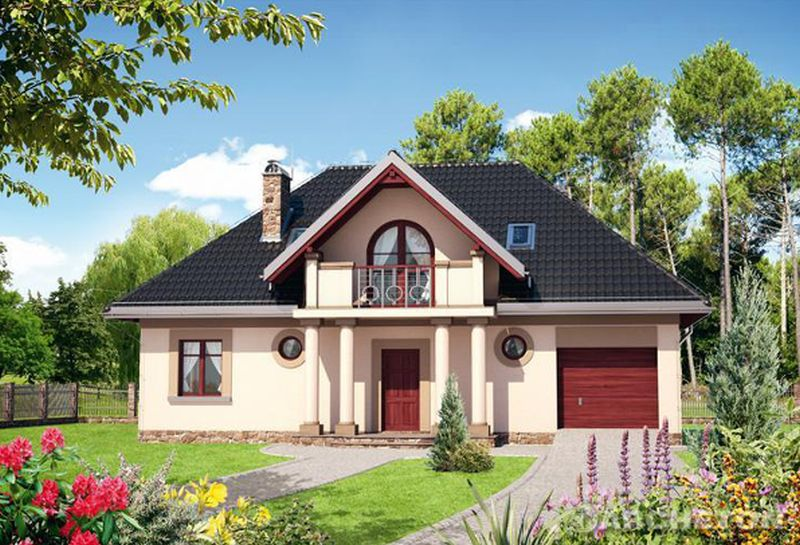 Proiecte de case rustice cu mansarda 3 modele de locuinte for Modele de case mici