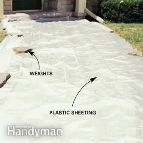 turnarea unei alei de beton folie