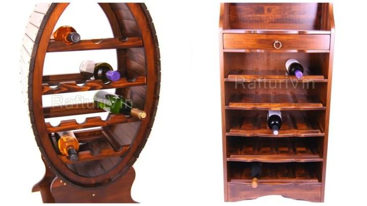 cum pastrezi vinul la tine acasa rafturi lemn