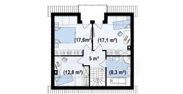 proiecte de case in doua culori 1 plan mansarda