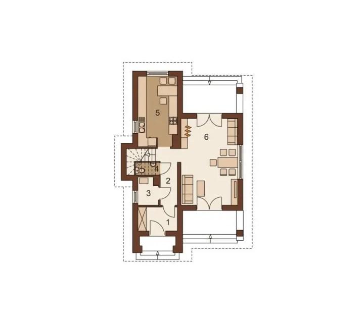 proiecte de case in doua culori 2 plan parter