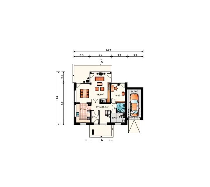 proiecte de case in doua culori 3 plan parter