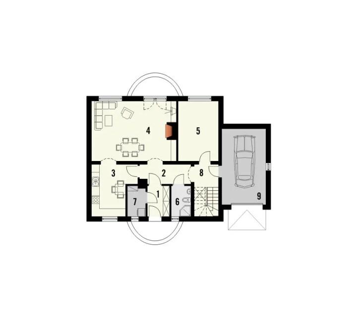 proiecte de case mici si cochete 2 plan parter