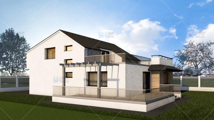 case cu mansarda pentru tineri 2 spate