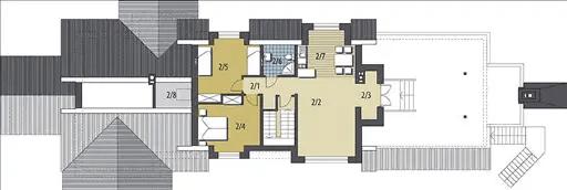 case de vis in stil rustic 2 plan etaj