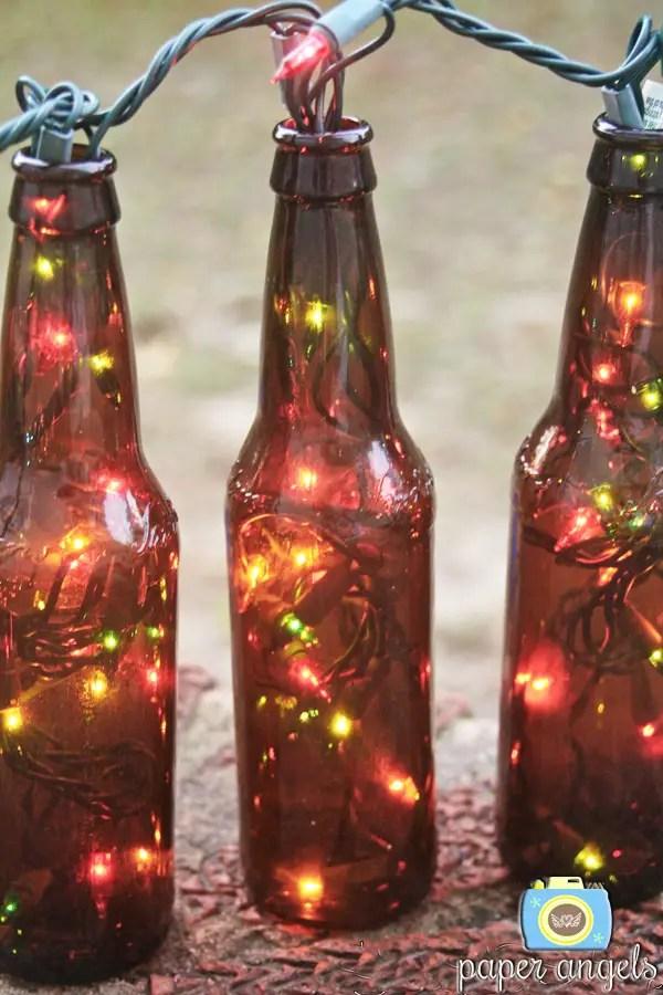 ornamente de sarbatori in gradina lumini la sticla 1