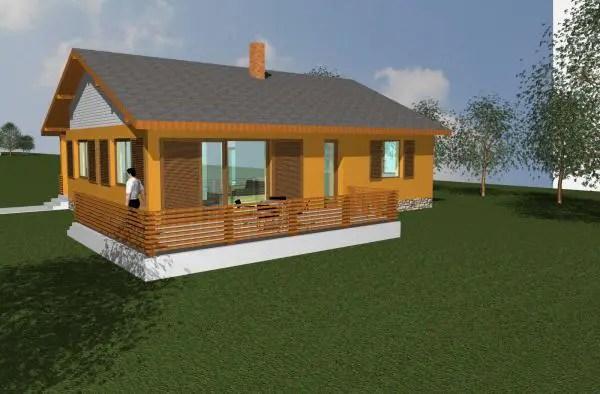 Modele de case fara etaj din osb locuinte accesibile si for Modele de case fara etaj cu terasa