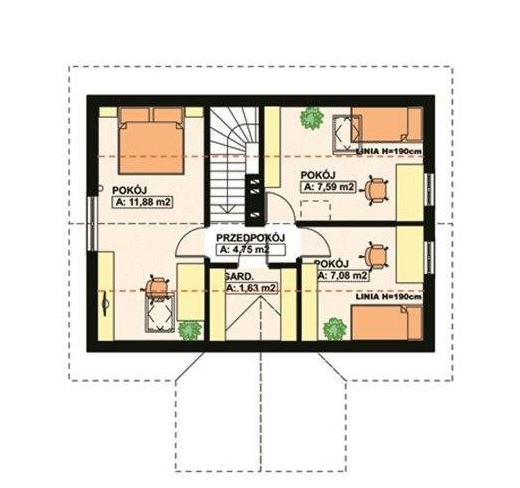 modele de case medii cu mansarda