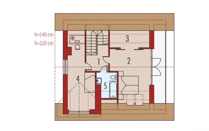 proiecte de case cu dormitoare mari