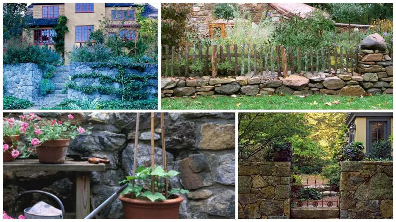 Garduri din piatra pentru gradina amenajari frumoase for Modele de garduri pentru case