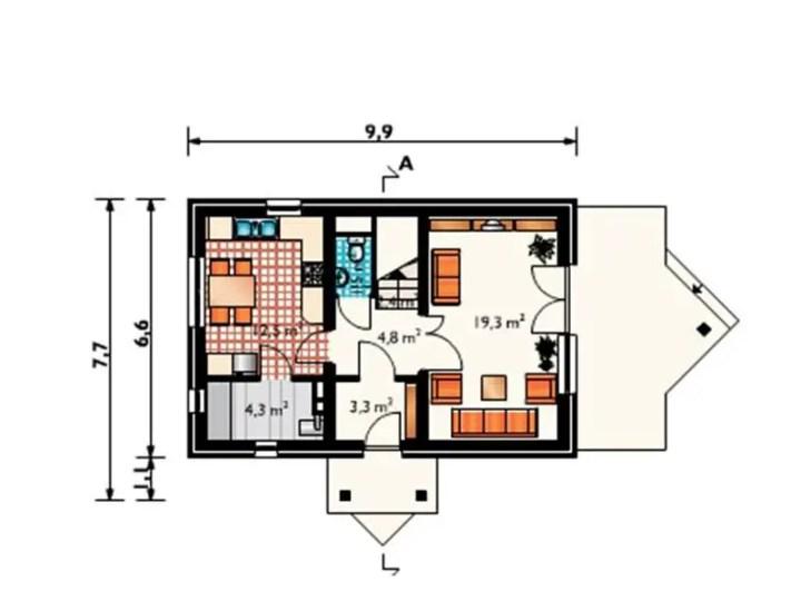 case cu terasa laterala