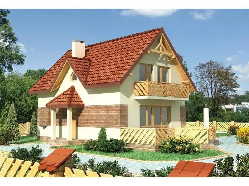 Case cu terasa laterala trei modele frumoase de neratat for Modele de case mici
