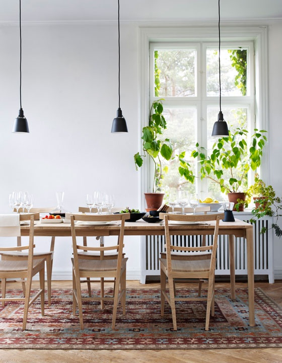 casa in stil scandinav spatiu de servit masa