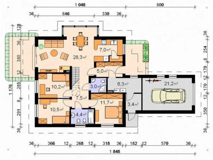 case cu terase acoperite