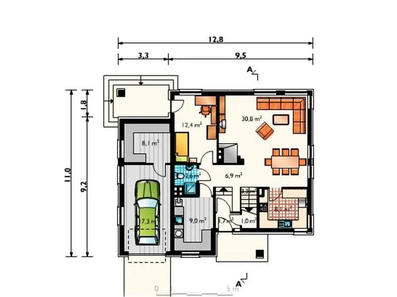 case cu bucatarie separata