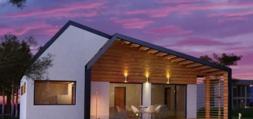 modele moderne de case din lemn