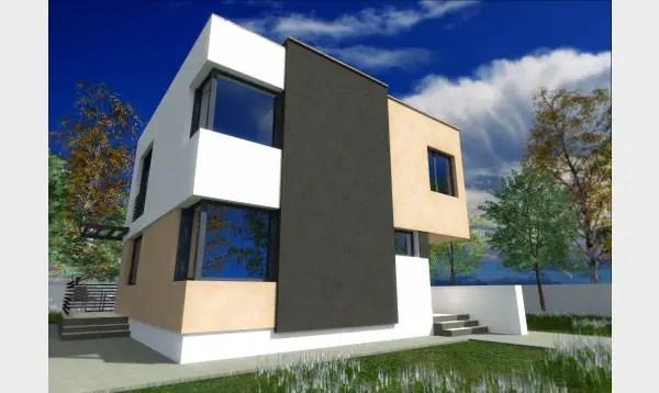 Case cu etaj pentru tineri. Design modern
