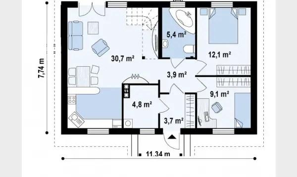 Proiecte de case accesibile pentru cupluri de tineri
