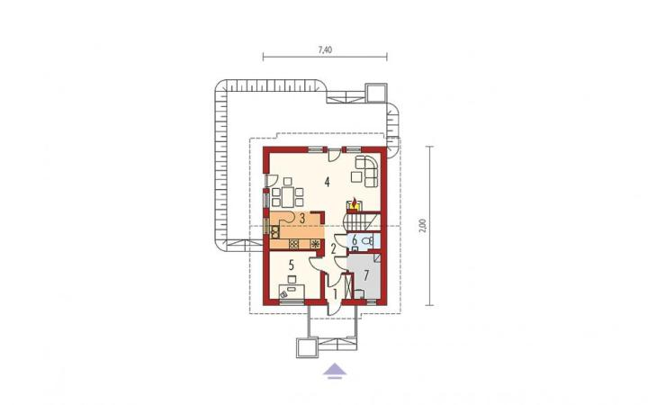 case cu 3 dormitoare la mansarda 2