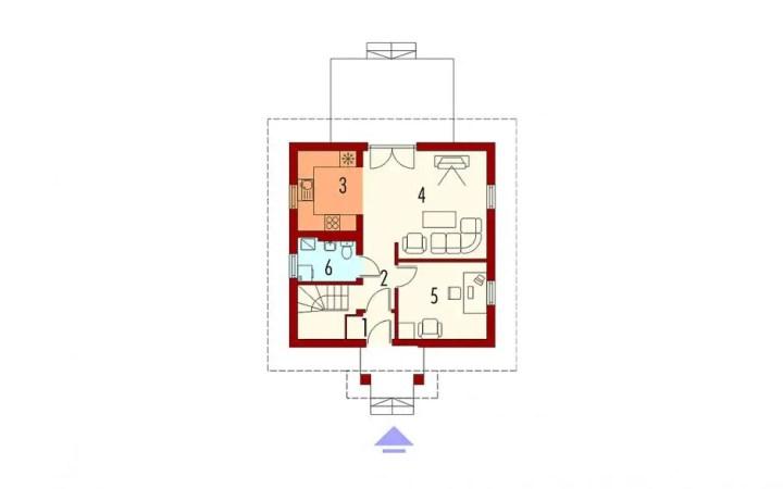 case cu 3 dormitoare la mansarda