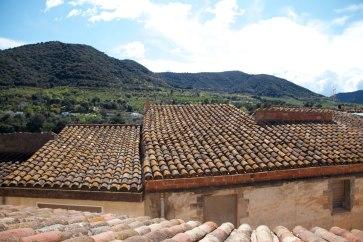 Fantàstiques vistes des de la terrassa cap a l'entorn natural que envolta Alforja