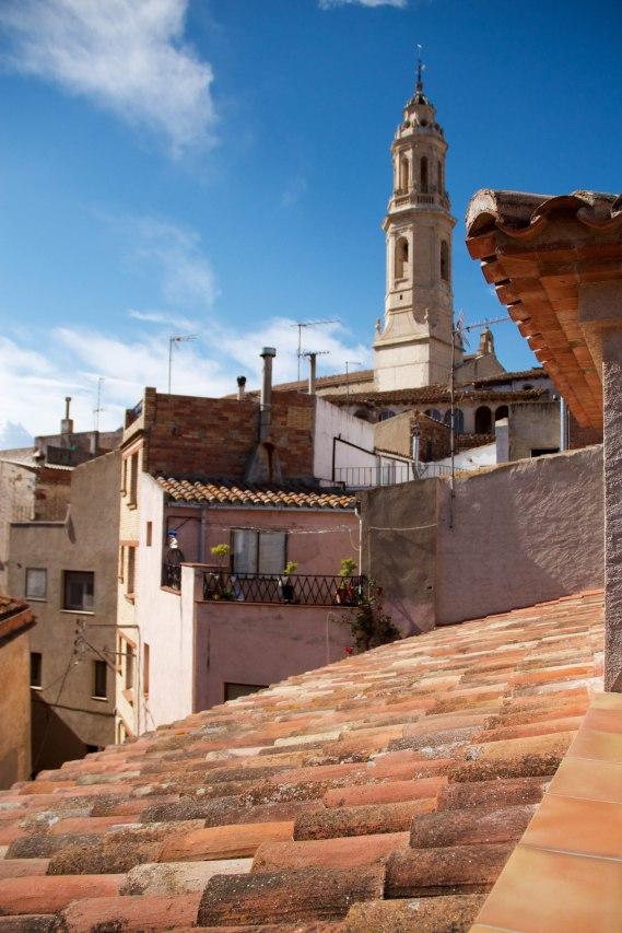 El campanar d'Alforja, vist des de la terrassa