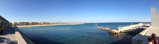 Panoramic view of the water and city -- so blue