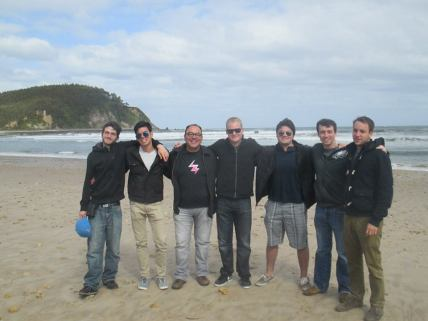 Group beach picture of the men