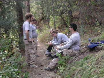 Trailbuilding with Americorps NCCC at Lory State Park in northern Colorado.