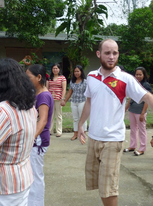 Teaching about HIV/AIDS in the Philippines as a Peace Corps volunteer.