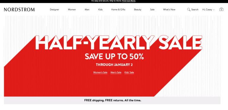 69eff6b3f78a6 The Half-Yearly Sale is here! It only runs through January 2nd, and there  are some major good deals! Most everything on my list is AT LEAST 40% off.