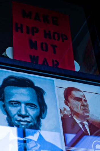 Make hip hop, not war, 2008