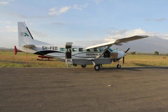 The plane that we took from Zanzibar to Dar es Salaam to Arusha