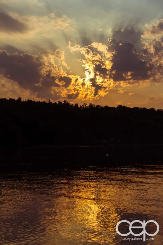 A sunset shot at the de Bruyn family cottage.