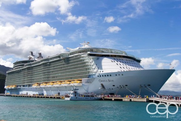 "A photo of Royal Caribbean's ""The Oasis of the Seas"" — the largest cruise ship in the world."