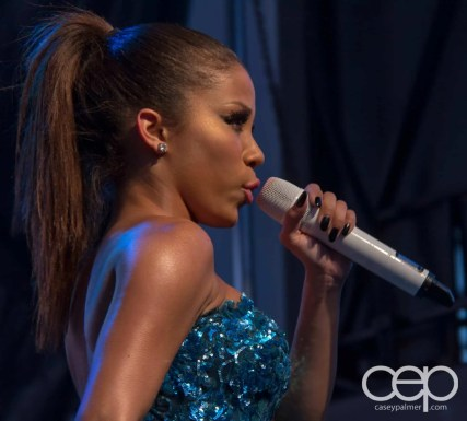 A shot of Keyshia Chanté struttin' the stage at Toronto Pride 2012!