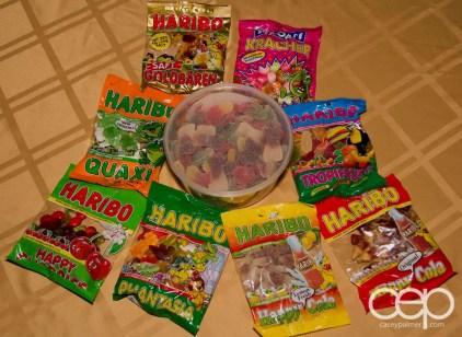 A display of Haribo tummies