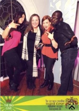 @MakeupDavida, @wedding_crasher, @jamieleighTO and myself.