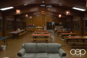 The main hall where we grabbed our grub!