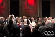 The crowd surrounding the 2014 Corvette Stingray